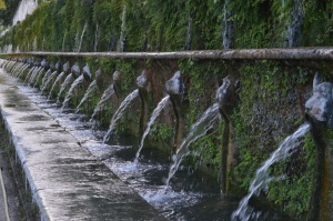 Fountains in Villa D'Este
